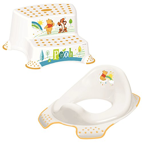 Keeeper 2-teiliges Set WINNIE Schemel zweistufig & WC-Sitz / Toilettensitz weiß