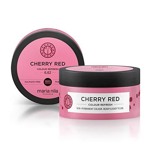 Maria Nila Colour Refresh - Cherry Red 100ml | Eine revolutionäre Farbmaske zur Auffrischung und Intensivierung der Haarfarbe