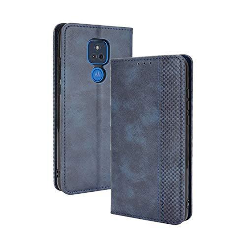 TOPOFU Funda Motorola Moto G Play 2021, Carcasa PU/TPU Flip Leather Wallet Case, Funda de Cuero PU Premium Carcasa Libro de Cuero para Motorola Moto G Play 2021 (Azul)