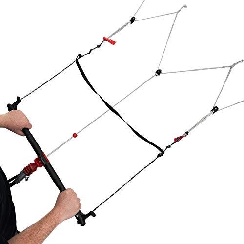 Skymonkey Quadbar für Vierleiner Kite, einfache Montage (Handles demontieren, Depowerbar montieren), 60 cm, Aluminum