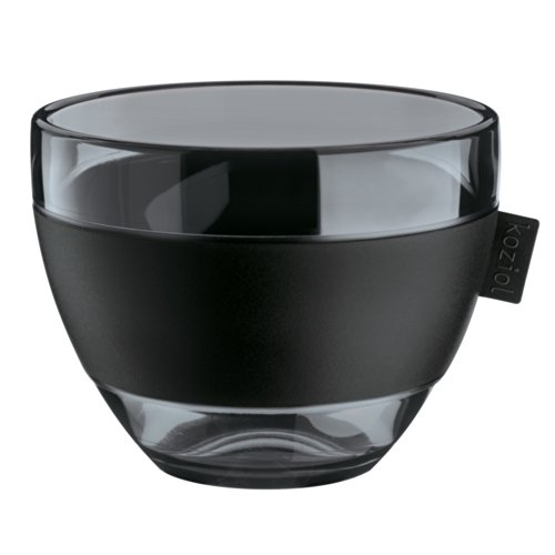 Koziol Aroma m mug mug à thé Noir/Anthracite - 3571540 Transparent