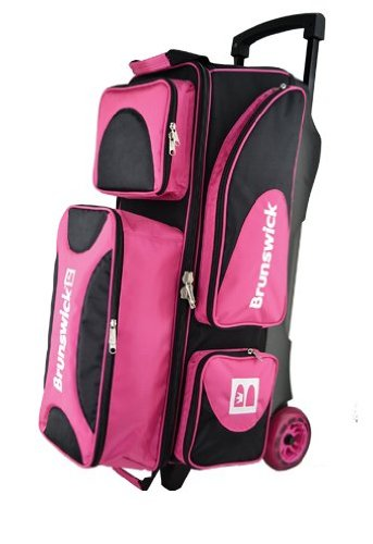 Brunswick Flash X Bowlingtasche mit DREI Rollen, Pink