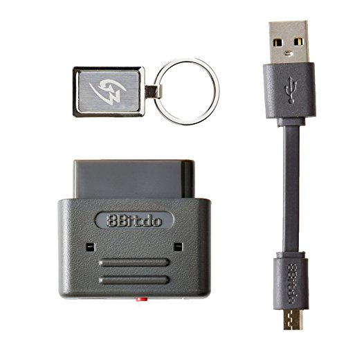 Gam3Gear 8Bitdo PS3 Dualshock 3 PS4 Dualshock 4 Wiimote Wii U Pro Controller Bluetooth receptor inalámbrico retro para el SNES SFC con llavero