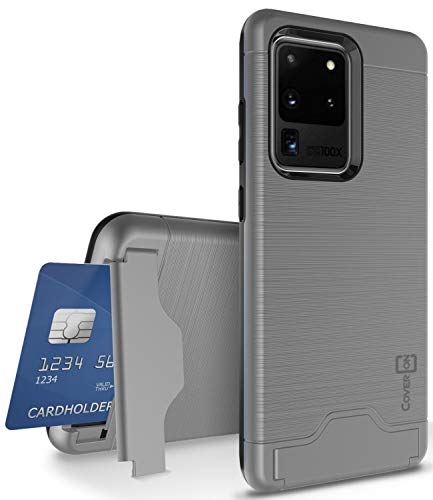 CoverON Kickstand Credit Card Holder SecureCard Series for Samsung Galaxy S20 Ultra Case (Gunmetal Gray)