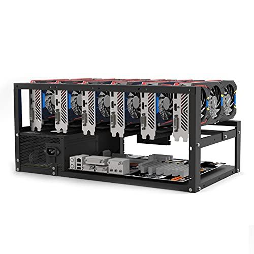 Xiaorong Apilable Minería Caso Rack Placa Base Soporte Open Mining Rig Frame ETH/ETC/ZEC Ether Accesorios Herramientas para 6/8 GPU