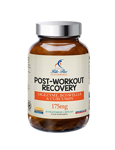 Post Workout Recovery 175mg by Rite-Flex - with DigeZyme, Boswellin Super, Curcumin C3 Complex and BioPerine - Powerful Recovery Formula - 60 Vegetarian Capsules – 2 Month Supply - Made in The UK