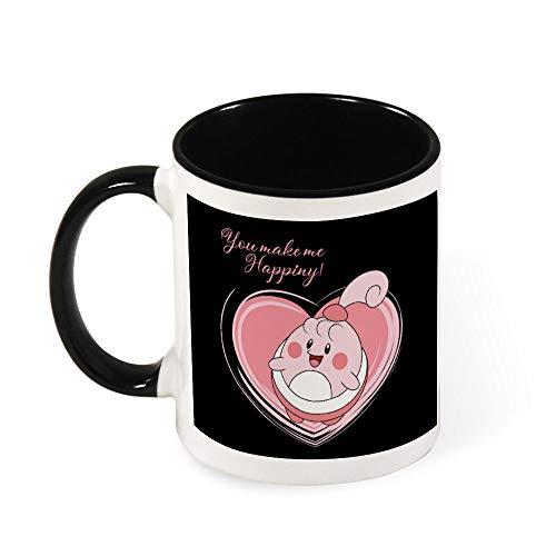 Monster of the Pocket Love Happiny Kaffeetasse aus Keramik, Geschenk für Frauen, Mädchen, Ehefrau, Mutter, Oma, 325 ml