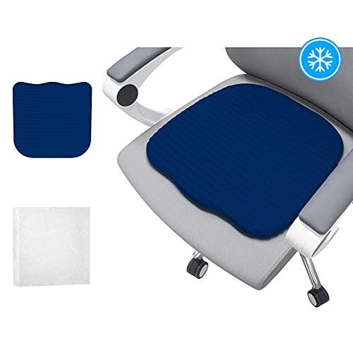 WAOAW Cojín Comfort, Cojín de Asiento Ergonómico para un Mejor Confort de Asiento, Seleccionado Japón Mitsubishi Materias primas, Cojín de Asiento de Uso Universal (Azul)
