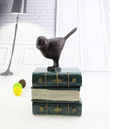 IPOTCH Pájaros Vintage Libro Moneda Ahorre Caja Dinero Hucha - Verde