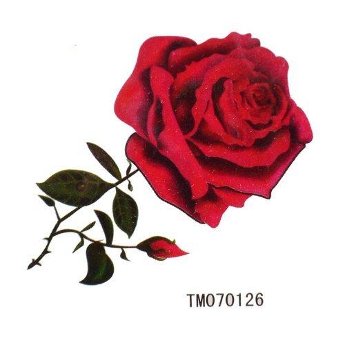 King Horse Hot vente imperméables tatouages temporaires sexy roses rouges