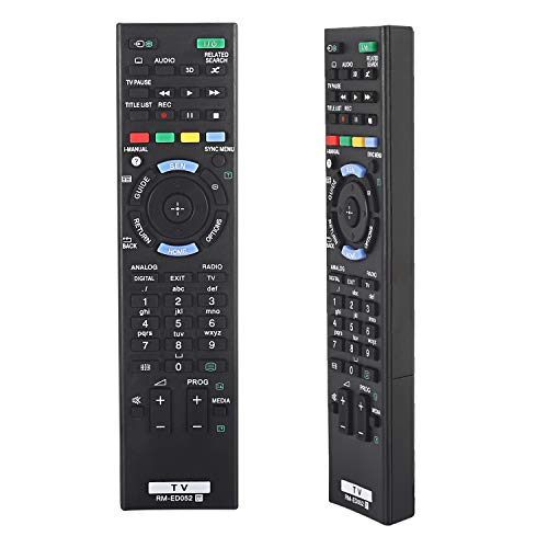 New Replacement Remote Control RM-ED052 for Sony Smart TV RM-ED052 RM-ED050 RM-ED047 RM-ED053 RM-ED060 RM-ED046 RM-ED044 KDL-65S995A KDL-65W855A Smart Digital TV Box Audio Controller