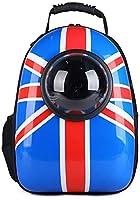 ペットバッグお出かけキャリングバッグ 小型犬ペットスペース猫ウォーキングバッグ透明スペースカプセル (32*29*42cm, 4)