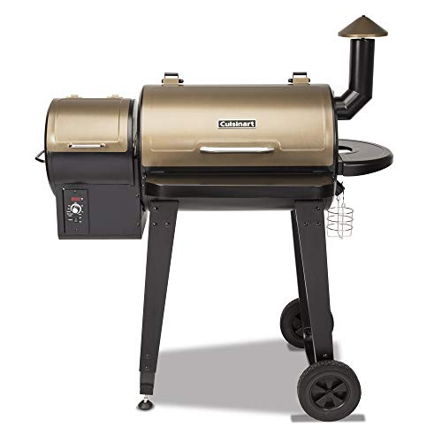 "Cuisinart CPG-4000 Wood BBQ Grill & Smoker Pellet Grill and Smoker, 45"" x 49"" x 39.4"", Black grill pellet wood"