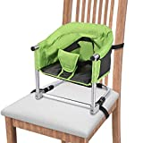 Portable Booster Seat, Booster Feeding Seat Folding Highchair for Home & Travel, Table