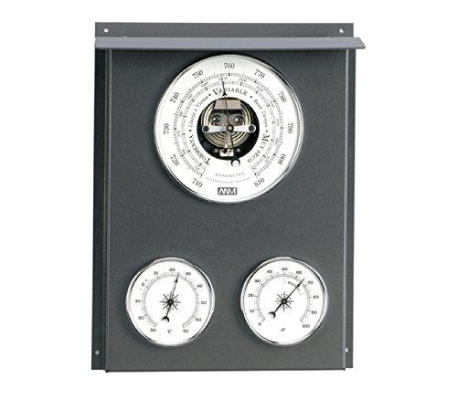 RELOJESDECO Estación meteorológica náutica, Barómetro y Estación meteorológica Exterior Interior 23cm AS270616 Dispone de 3 Relojes termómetro, higrómetro, barómetro.