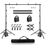 Backdrop Stand, Heorryn 8.5 x 10ft Background Stand Adjustable Photography Muslin Background Support System...