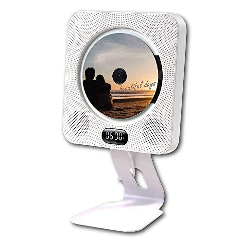 BlueHorse 壁掛けCDプレーヤー 壁掛 DVDプレーヤー スタンド同梱 壁掛けでもスタンドでも両方使えます Bluetooth4.1 FM ラジオ 対応 金属スタンド HDMIケーブル リモコン 付属 USB microSD (mp3/avi/mpg/wma/jpg) 入力対応 AUX miniHDMI 出力対応 Bluetoothスピーカー (セット)