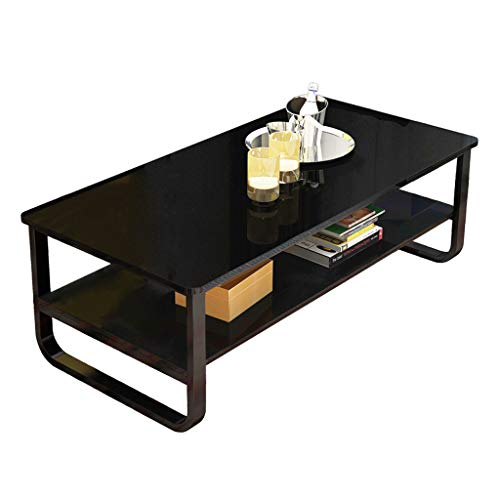 Ship from USA -Cnebo Coffee Tables with Storage Shelf, Modern 2-Tier Coffee Table for Living Room, Home Office Furniture,Waterproof End Table