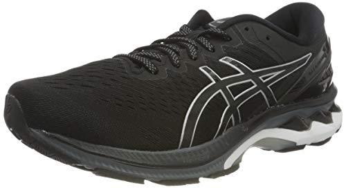 Asics Gel-Kayano 27, Road Running Shoe Hombre, Black/Pure Silver, 50.5 EU