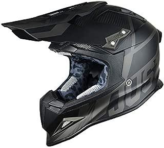 Just 1 Unisex-Adult Off Road Carbon Fiber Shell Motorcross Motorcycle Helmet (J12 Unit) (Flat Trans Black Matte, Large
