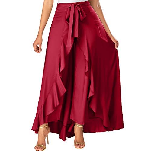 FAMILIZO Faldas Largas Y Elegantes Faldas Cortas Mujer Verano Invierno Primavera Vestidos Skirts for Women Mujer Gris Lado Cremallera De Parte Delantera Pantalones Fruncido Falda De Lazo Largo