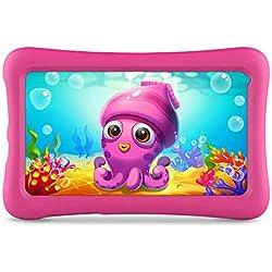 VANKYO Z1 Tablet per Bambini 7 Pollici 32GB ROM, Android 9 IPS HD Display WiFi Bluetooth Kidoz Preinstallato con Kid-Proof Custodia (Rosa)