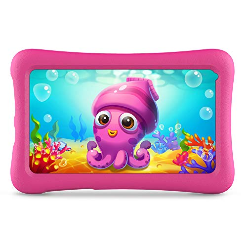 VANKYO Z1 Tablet per Bambini 7 Pollici 32GB ROM, Android 10 IPS HD Display WiFi Bluetooth Kidoz Preinstallato con Kid-Proof Custodia (Rosa)