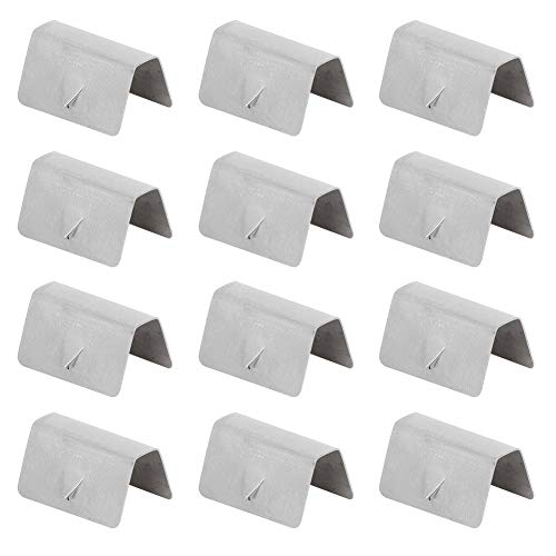 YUANJS Rain Deflector Clips,12Pcs Car Wind Rain Deflector Channel Stainless Steel Fixing Retaining Clips