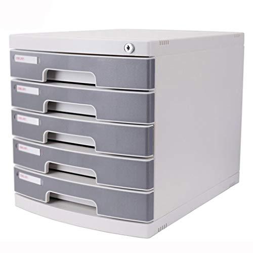 Ablagesystem für den Schreibtisch Großvolumige File Cabinet Datei-Storage Manager mit Schloss Hochwertige Business Desk File Storage Rack-Fünf-Schicht-Grau Ordner-Ablagesysteme
