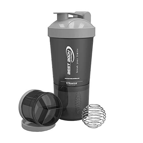 Best Body Nutrition High Quality Shaker with Bullet Ball - Black, One...