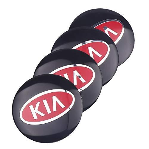 Logotipo de la tapa del cubo del centro de la rued Coche de estilo 4pcs Centro de ruedas del coche Caps de hub gordas decorativas etiqueta calcomanía compatible con KIA K2 K K3 K5 K9 Sorento Sportage
