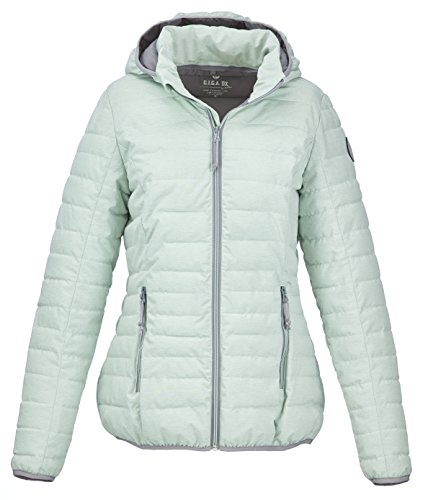 G.I.G.A. DX Women's Uyaka Casual Function Jacket in Down Optic with Zip Off Hood, Dark Mint, Size 46