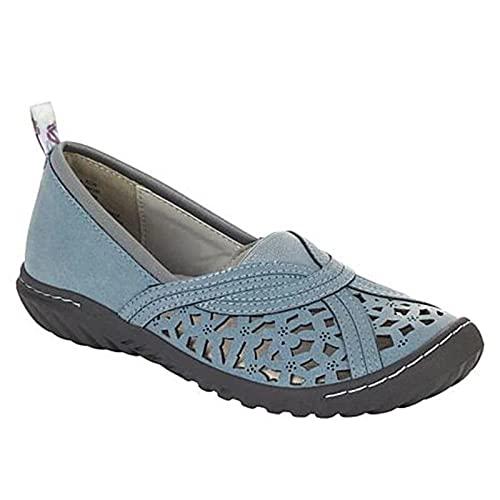 Rabuet Damen Support Atmungsaktive Flache Sandalen Hohles Design Vintage Schuhe Sommerversorgung