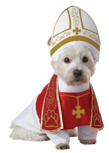 Pup-A-Razzi California Costume Papst perro de mascota Disfraz
