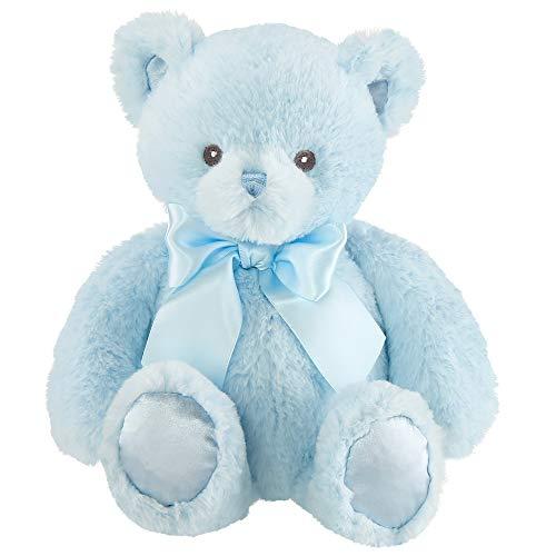 Bearington Baby Blue Plush Teddy Bear Stuffed Animal, 10 Inch