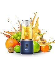 Deerma draagbare mixer, mini-standmixer 400 ml smoothiemaker met roestvrijstalen mes, USB oplaadbare sapcentrifuge voor op reis, buiten, huishouden, keukenhulpmixer