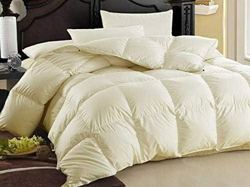 80/% Daunen Natürliche Decke Bettdecke Oberbett Ecru und Weiss