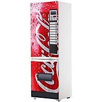 Pegatinas Vinilo para Frigorifico Máquina expendedora Cocacola roja   Varias Medidas 185x60cm   Adhesivo Resistente y de Fácil Aplicación   Pegatina Adhesiva Decorativa de Diseño Elegante