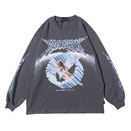 Sweatshirt Männer Cute Printed Men Pullover Casual Style Alte Kultur Malerei O-Ausschnitt Baggy All-Match Cosy Streetwear