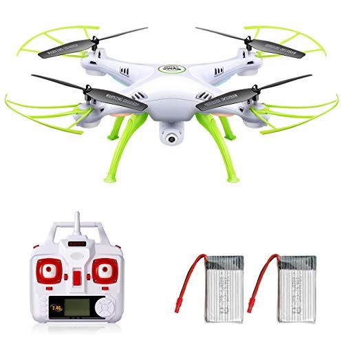 DoDoeleph Syma X5HW 2,4 Frecuencia 6-Axis Gyro FPV Drone cámara de HD RC Quadcopter Drone...