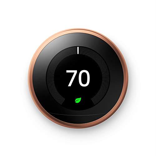 Nest Aprendizaje de termostato, Control de temperatura fácil para cada habitación en su casa, cobre (tercera generación)