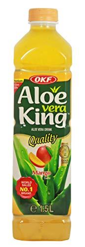 yoaxia ® - [ 1,5 Liter ] OKF Aloe Vera King Getränk MANGO Geschmack mit 30% Aloe / Aloe Vera Drink