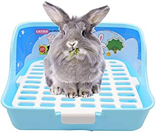 RUBYHOME Rabbit Cage Litter Box Easy to Clean Potty Trainer for Cat Adult Guinea Pig Ferret Small Animals