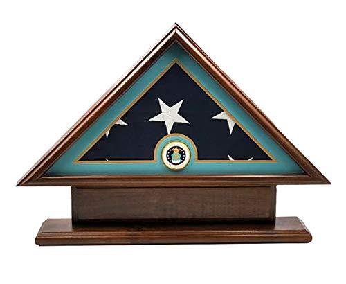 DECOMIL Flaggenetui für Veteran/Beerdigung/Beerdigungsflagge, mit Namensschild (Air Force)