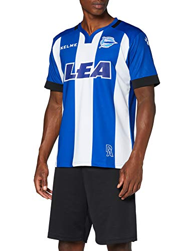 Deportivo Alavés 1ª Equipación Camiseta, Adultos Unisex, Azul/Blanco, M
