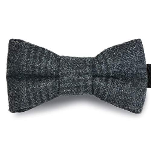 AYAMAYA Fliege Herren, Vorgebundene Fliege Schleife kariert mit Haken - Bereits Gebunden Verstellbar aus Baumwolle im Tweed Style
