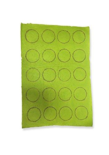 Staufen Circles Apple Green – handgeschept papier met kiwi-zaden, 55 x 80 cm