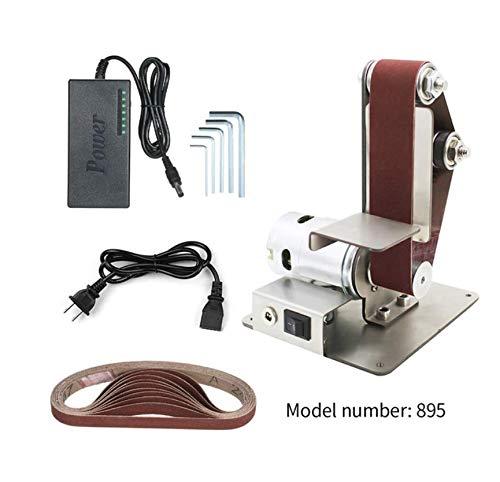 Professionelle Elektrische Mini Vertikale Bandschleifer Maschine DIY Poliermaschine festwinkelschärfer Tischschneide Maschine,A