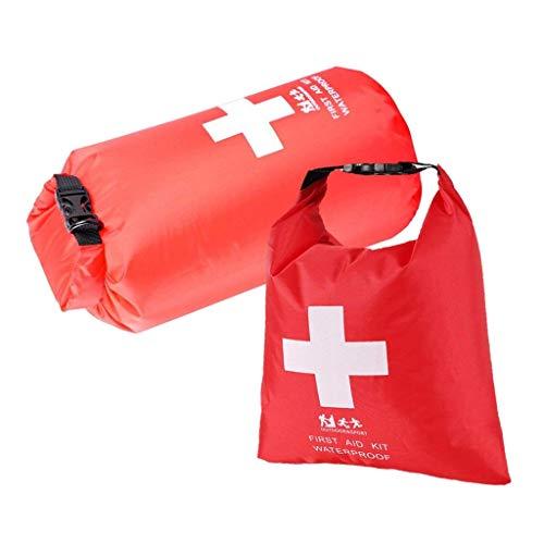 Praktische wasserdichte Tasche, Leere Erste Hilfe Pouch First Aid Stausack Notfalltasche für Outdoor Sport Camping Wandern Reisen Rafting Snowboarding Notfalltasch (2pcs, 1.2 L + 5 L)
