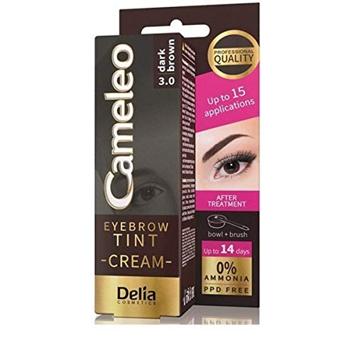 Delia Cameleo Teinture crème pour sourcils Marron foncé 3.0